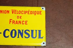 French Vice Consul Enamel Sign