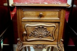French Walnut Bedside Cabinet