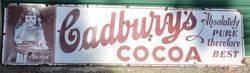 Gadbwryand39s Cocoa Enamel Advertising Sign