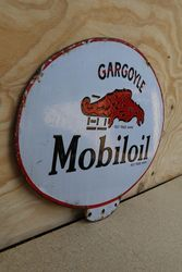 Gargoyle Mobiloil Double Sided Enamel Advertising Sign