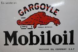 Gargoyle Mobiloil Vacuum Oil Company Double Sided Enamel Sign