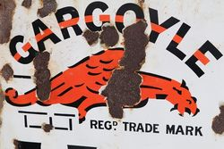 Gargoyle Vacuum Mobiloils Enamel Advertising Sign