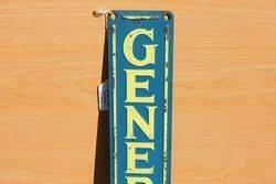 General Motors Embossed Tin Sign