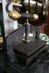 Genuine Antique Brass Mounted Book
