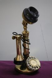 Genuine Antique Brass Stick Phone