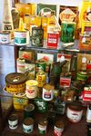 Genuine Automobilia Assorted Oil And Grease Cans --
