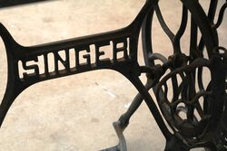Genuine Cast Iron Singer Base Granit Top Table