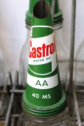 Genuine Castrol Enamel Front 12 Bottle Oil Rack