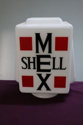 Genuine Glass Shell Mex Petrol Pump Advertising Globe