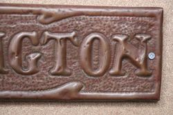 Genuine House Name Plate andquotARLINGTONandquot