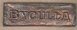 Genuine House Name Plate andquotBYCULLAandquot