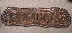 Genuine House Name Plate andquotELEOURAandquot