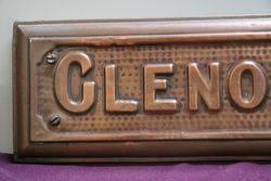 Genuine House Name Plate andquotGLENORMAandquot