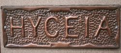 Genuine House Name Plate andquotHYGEIAandquot