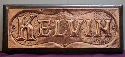 Genuine House Name Plate andquotKELVINandquot