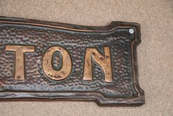 Genuine House Name Plate andquotKENTONandquot