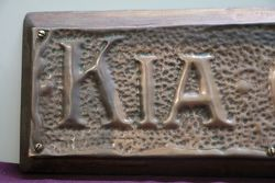 Genuine House Name Plate andquotKIA ORAandquot