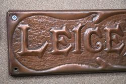 Genuine House Name Plate andquotLEICESTERandquot