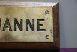 Genuine House Name Plate andquotLOUANNEandquot