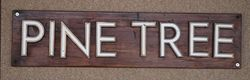 Genuine House Name Plate andquotPINE TREEandquot