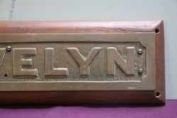 Genuine House Name Plate andquotTREVELYNandquot