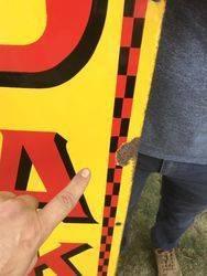 Genuine Kodak Arrow Strip Sign