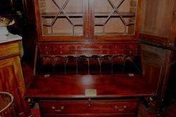 Georgian Mahogany Bureau Bookcase