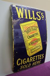 Gold Flake Cigarettes Enamel Advertising Sign