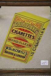 Gold Flake Cigarettes Framed Mirror