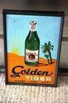Golden Tiger Beer Pictorial Enamel Sign Arriving Nov