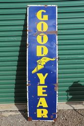 GoodYear Enamel Advertising Sign