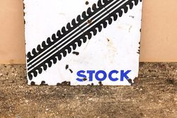 Goodrich Stock Double Sided Enamel Sign
