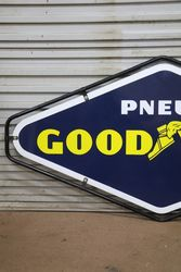 Goodyear Double Sided Enamel Advertising Sign With Metal Mount