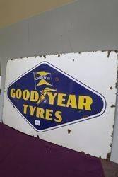 Goodyear Tyres Enamel Advertising Sign