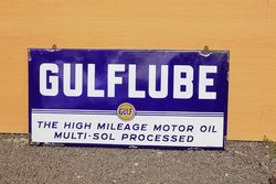 Gulflube Enamel Advertising Sign
