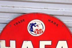 Hafa Motor Oil Embossed Tin Advertising Sign