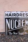 Hairdressing NuCreme Double Sided Enamel Sign