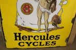 Hercules Cycles Enamel Sign