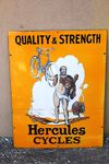 Hercules Cycles Pictorial Enamel Sign