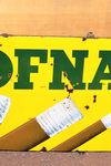 Hofnar Cigars Pictorial Enamel Sign