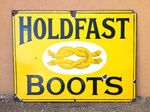 Hold Fast Boots Enamel Advertising Sign