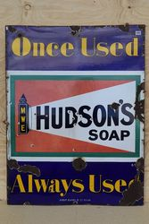 Hudsonand39s Soap Enamel Advertising Sign