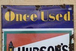 Hudsonand39s Soap Enamel Advertising Sign