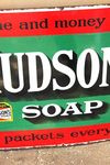 Hudsons Soap Enamel Advertising Sign