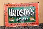 Hudsons Soap enamel Sign