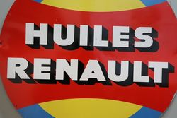 Huiles Renault Tin Advertising Sign