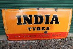 India Tyres Enamel Advertising Sign