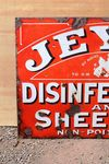 Jeyes Disinfectant And Sheep Dip Enamel Sign