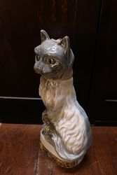 Jim Beam Bourbon Porcelain Cat Decanter