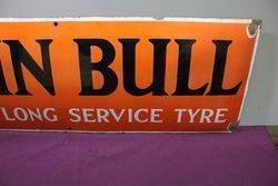 John Bull Convex Enamel  Advertising Sign